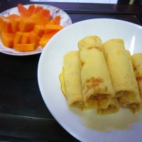 French Crêpes with Papaya xD
