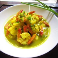 Thai Prawn Curry with Pineapple ^^