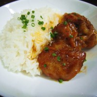 Asian Chicken Drumsticks with Rice