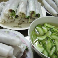 Rolled Rice Noodles with Beef and Vietnamese Herbs (Pho Cuon)