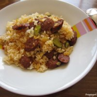 Sausage and Pickled Cucumber Fried Rice