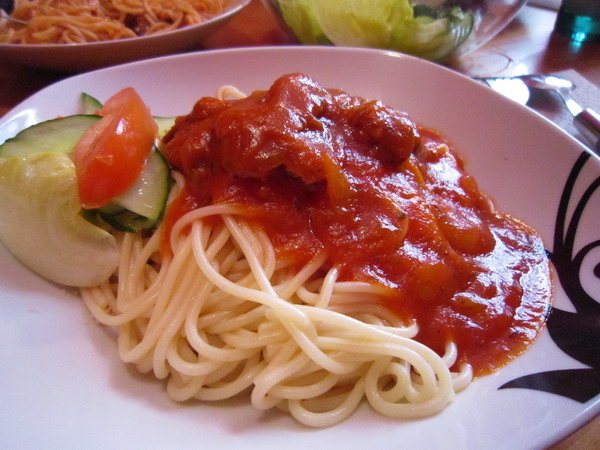 Sausage spaghetti 2