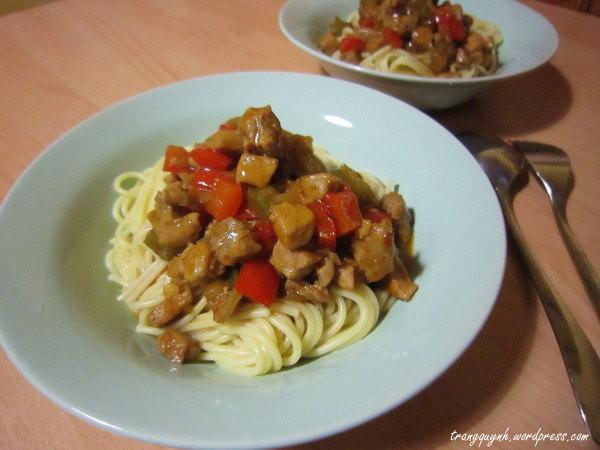 BBQ spaghetti 1