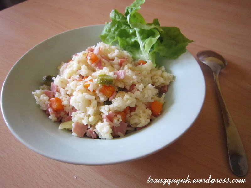 Ham fried rice 1