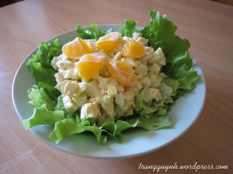Nutty orange chicken salad 1