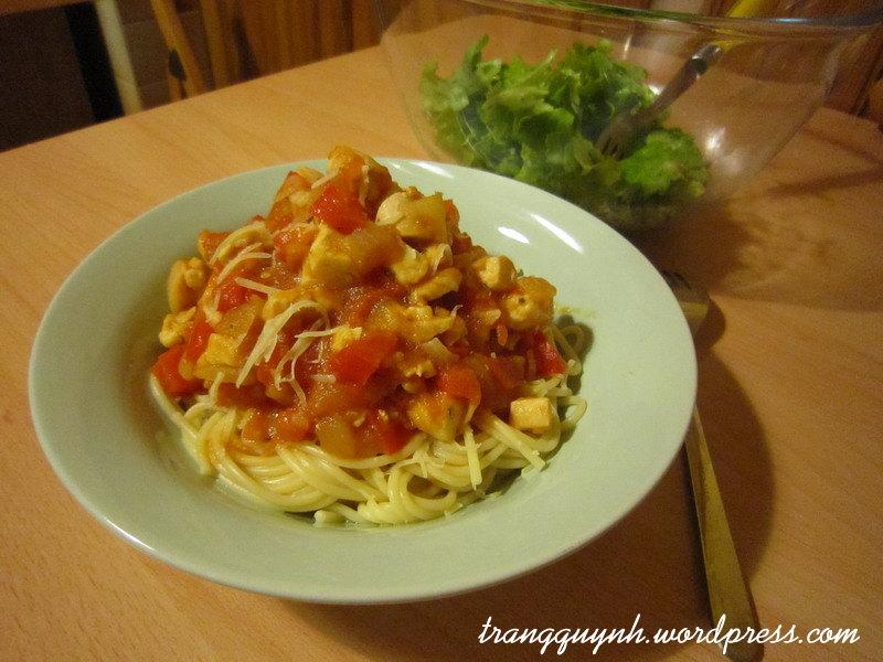 Chicken spaghetti 1