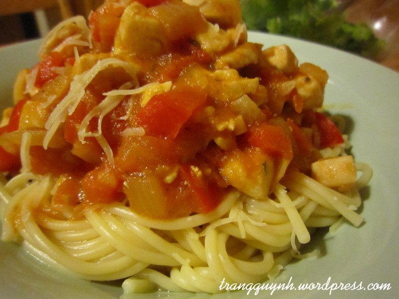 Chicken spaghetti 3