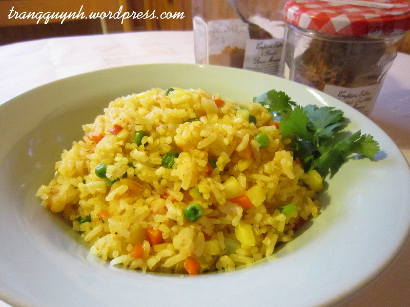 Curried fried rice 1