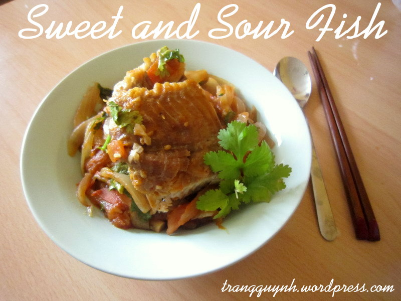Sweet and sour fish 1
