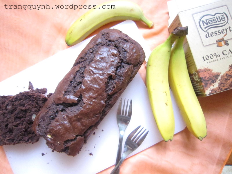 Chocolate banana bread 1