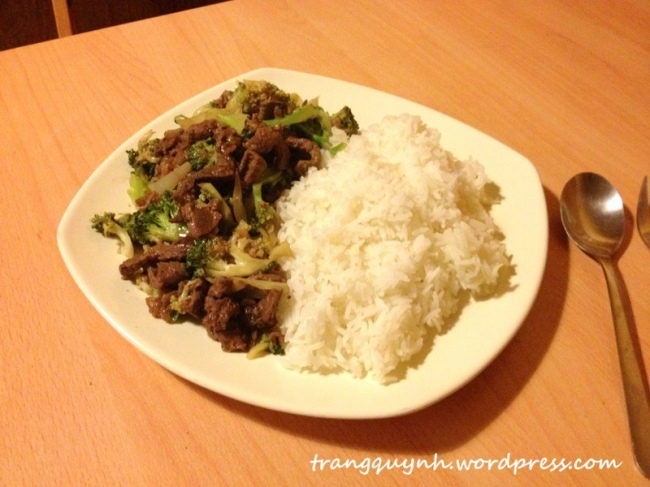 Beef and broccoli