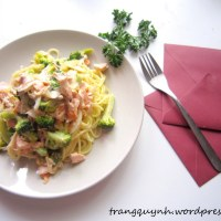 Creamy Salmon and Broccoli Pasta