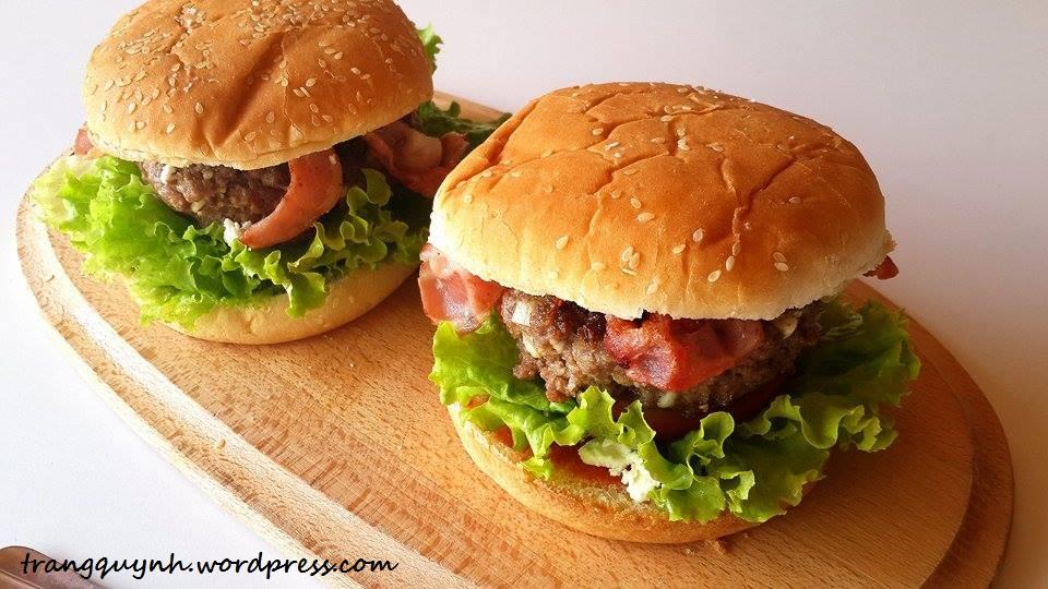 Feta Stuffed Burgers   Trang Quynh
